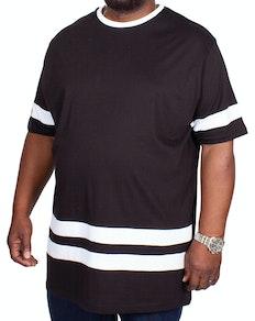 Bigdude Contrast Stripe T-Shirt Black
