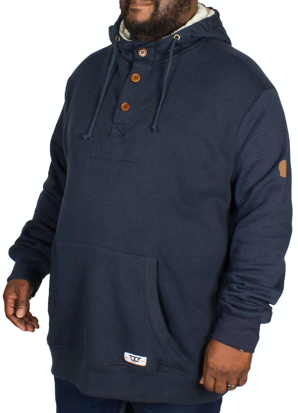 D555 Lorenzo Half Button Hoody Navy