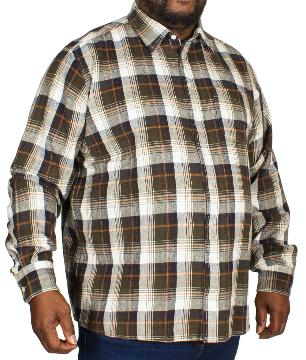 Replika Jeans Long Sleeve Checked Shirt Army Green