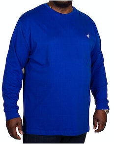 Bigdude Long Sleeve Crew Neck T-Shirt Royal Blue
