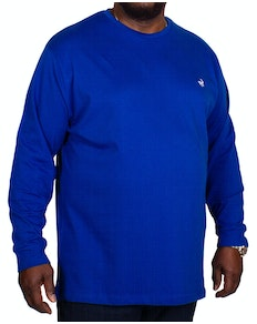 Bigdude Long Sleeve Crew Neck T-Shirt Royal Blue Tall