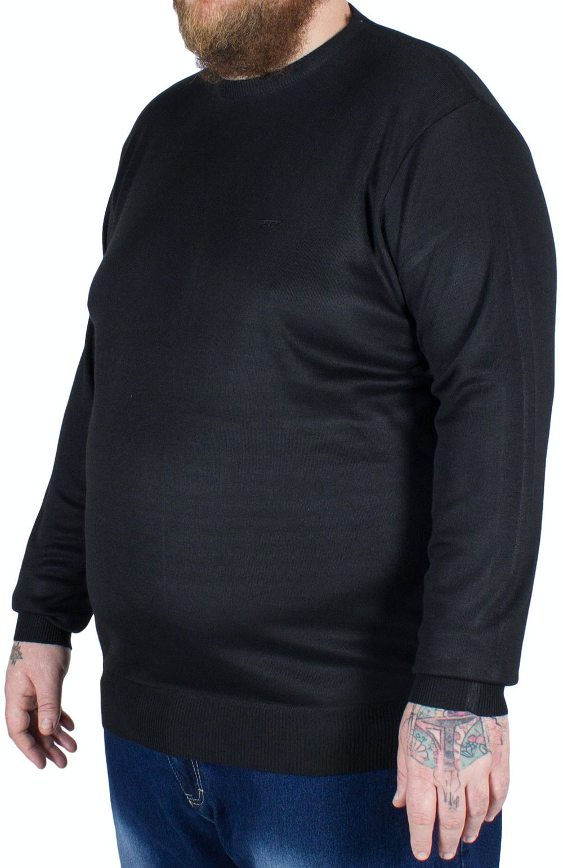 D555 Medwin Plain Crew Neck Sweater Black