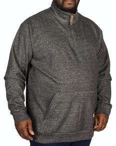 D555 Robby Funnel Neck Half Zip Sweater Charcoal