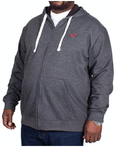 Bigdude Fleece Full Zip Hoody Charcoal