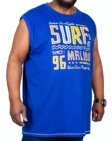 D555 Wallace Surf Malibu Sleeveless Printed T-Shirt Blue