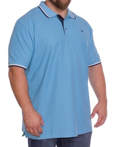 D555 Racer Polo Shirt Sky Blue