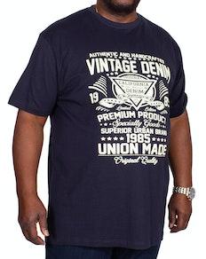 Espionage Vintage Print T-Shirt Navy