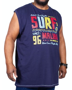 D555 Wallace Surf Malibu Sleeveless Printed T-Shirt Navy