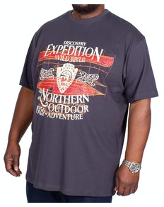 Espionage Expedition Print T-Shirt Charcoal
