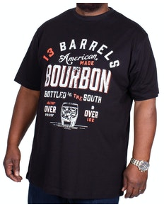 Espionage Bourbon Print T-Shirt Black