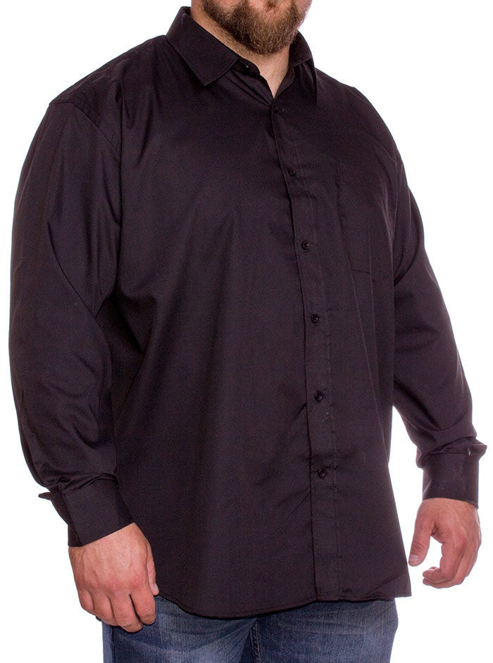 Metaphor Plain Black Long Sleeve Shirt