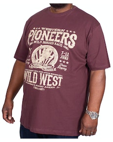 Espionage Pioneer Printed T-Shirt Burgundy