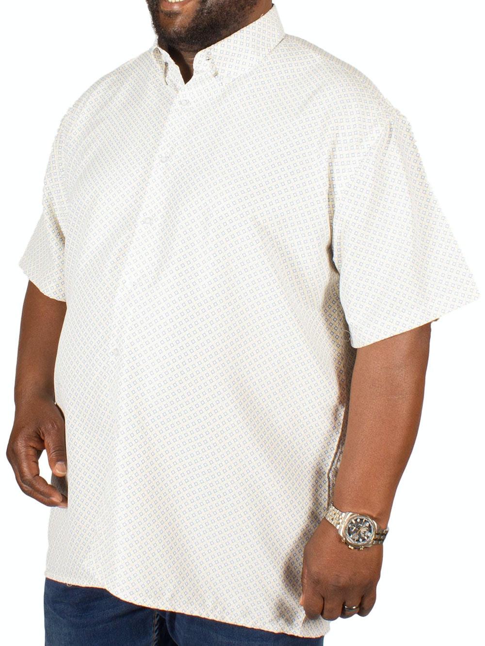 Fitzgerald Marcus Diamond Print Shirt Yellow/Blue