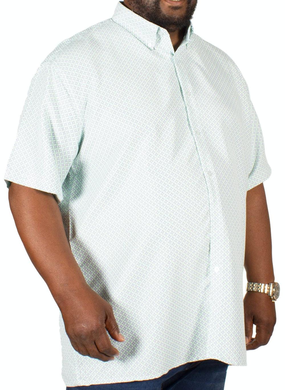 Fitzgerald Marcus Diamond Print Shirt Green/Blue