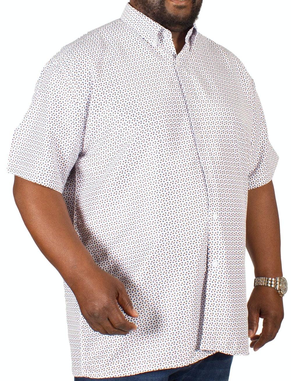 Fitzgerald Geometric Print Shirt Red/Navy
