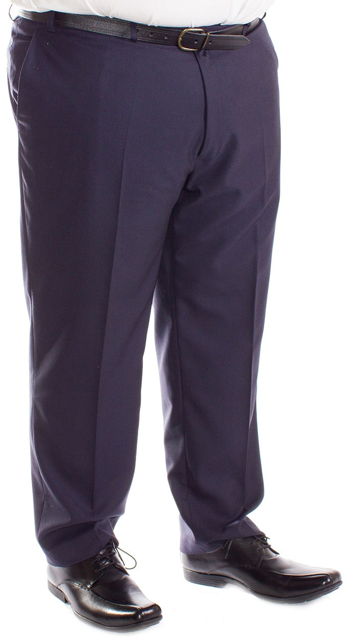 Carabou Durapress Formal Trousers Navy