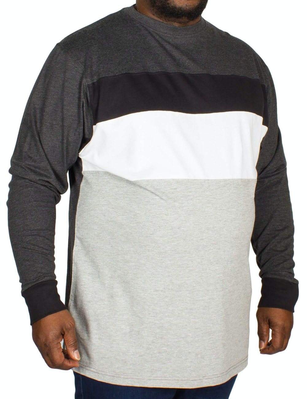 Kam Cut and Sew Long sleeve T-shirt Charcoal