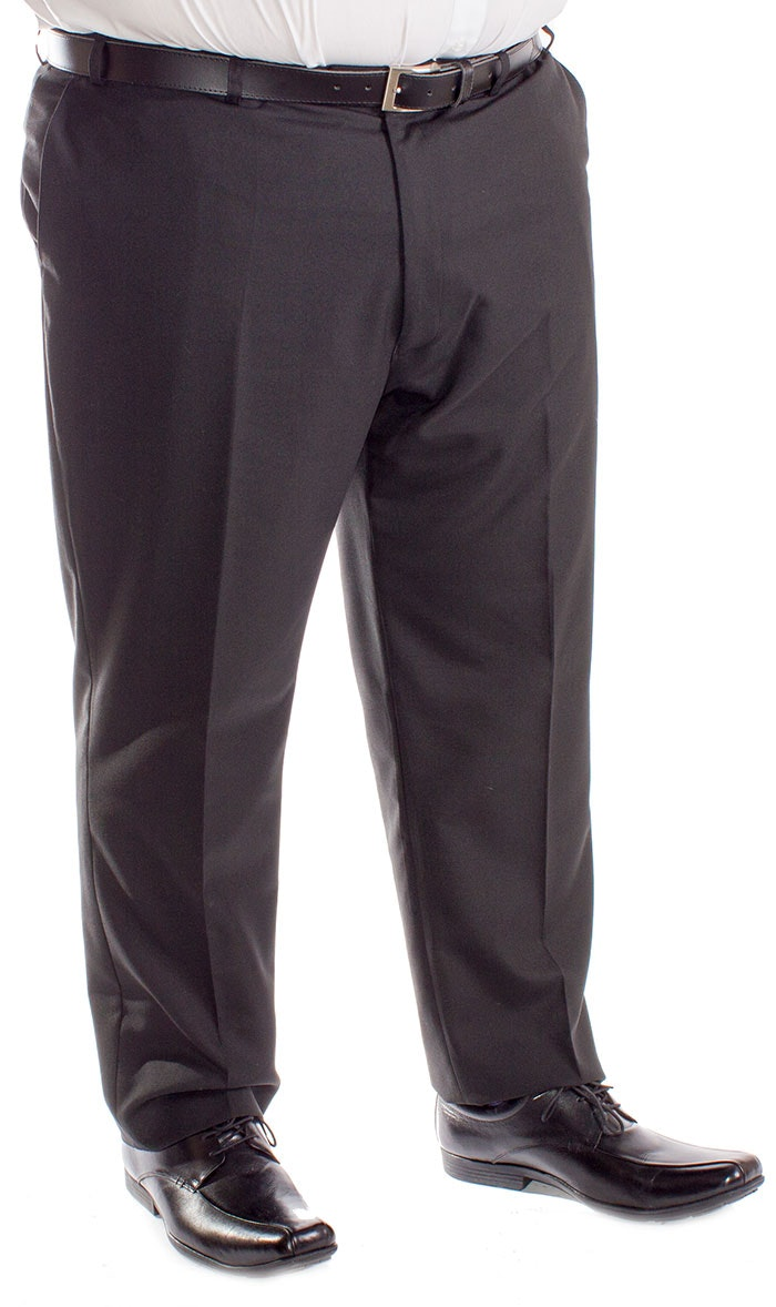 Carabou Durapress Formal Trousers Black
