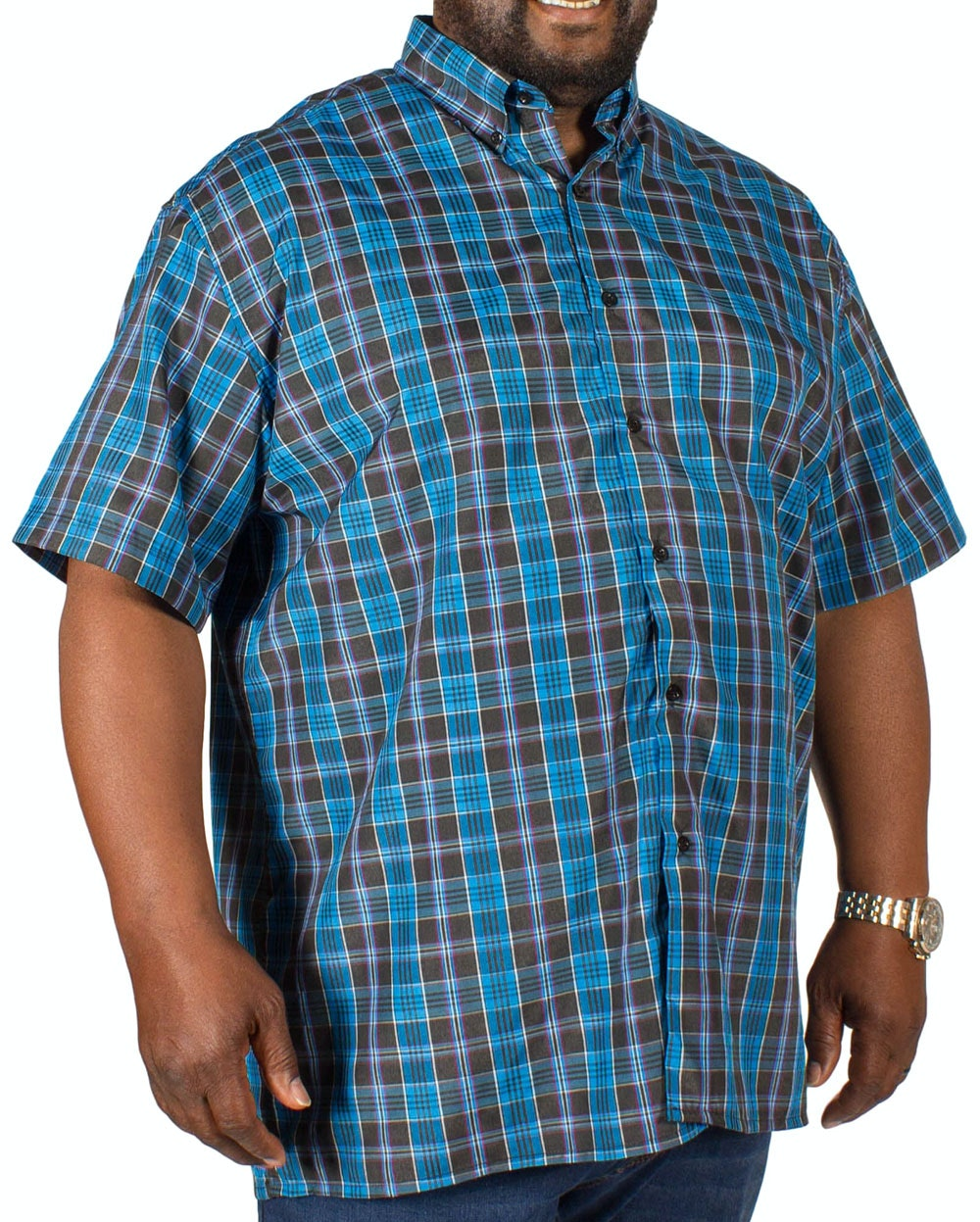 Fitzgerald Jamie Check Shirt Blue/Black