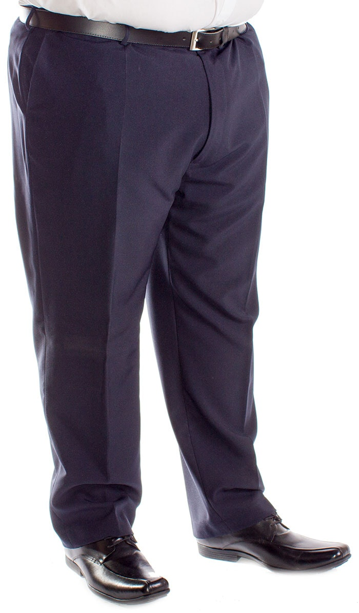 Carabou Panama Formal Trousers Navy