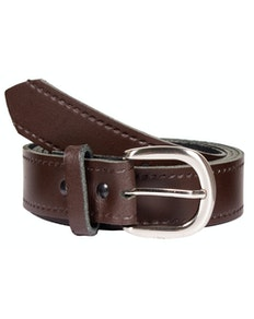 John King Bath Leather Trouser Belt Brown