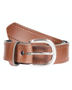 John King Bath Leather Trouser Belt Tan