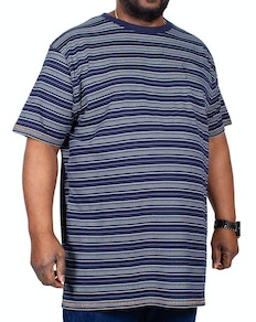 D555 Caspian Stripe T-Shirt Navy