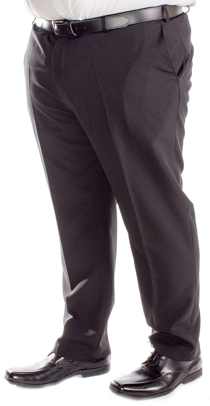 Carabou Panama Formal Trousers Black