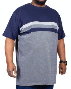 D555 Cookson Crew Neck Cut & Sew T-Shirt Navy