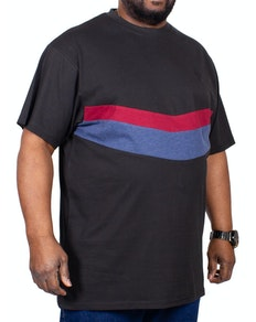 KAM Cut & Sew T-Shirt Black