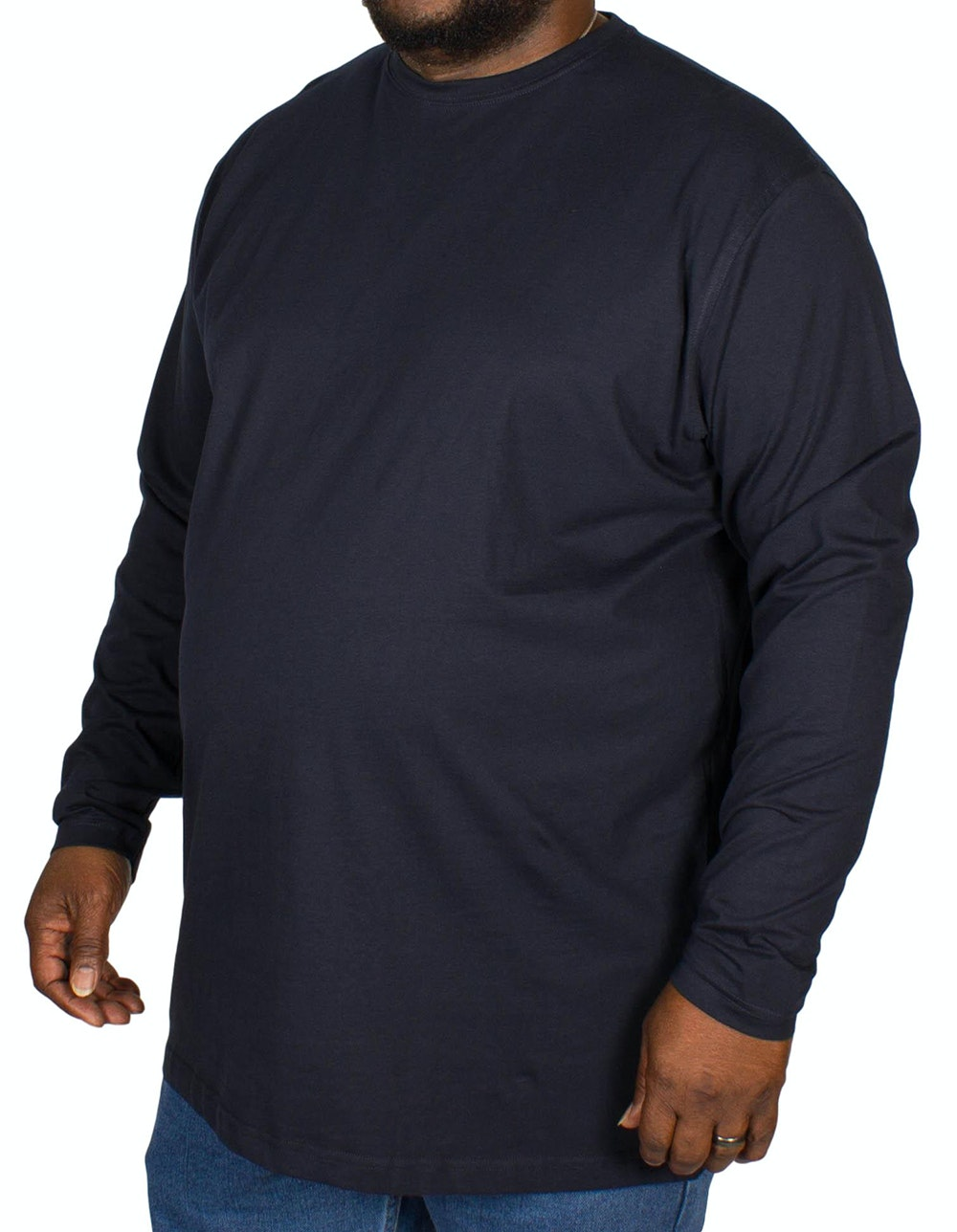 Espionage Plain Long Sleeve T-shirt Navy