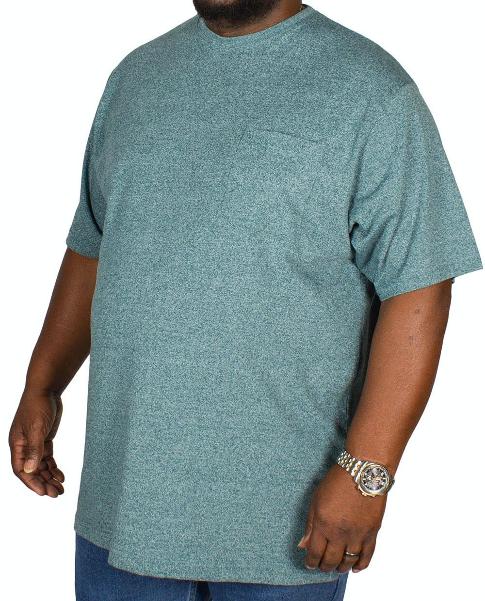 Espionage Jersey Marl T-shirt Teal