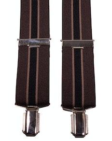 John King Extra Long Braces - Brown Stripe