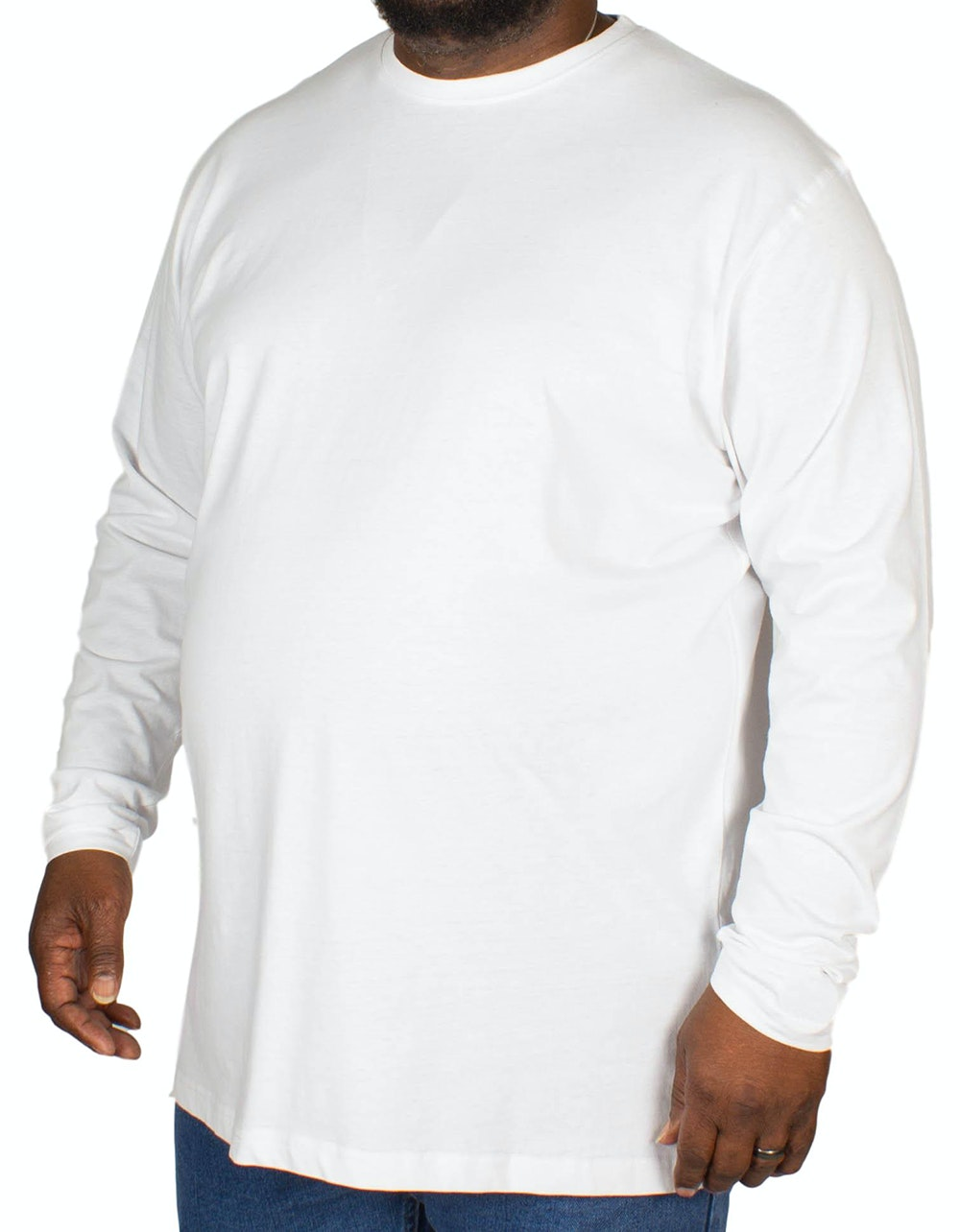 Espionage Plain Long Sleeve T-shirt White
