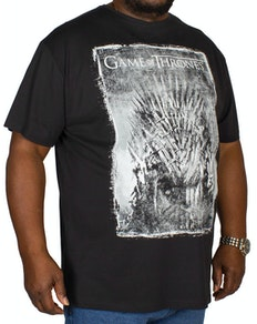 Replika Game of Thrones Print T-Shirt Black