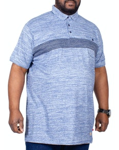 D555 Reno Polo Shirt With Chest Stripe Blue