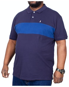 Replika Block Colour Polo Shirt Navy