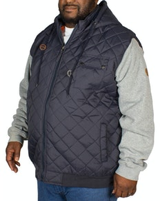 D555 Willie Hooded Quilted Jacket Navy