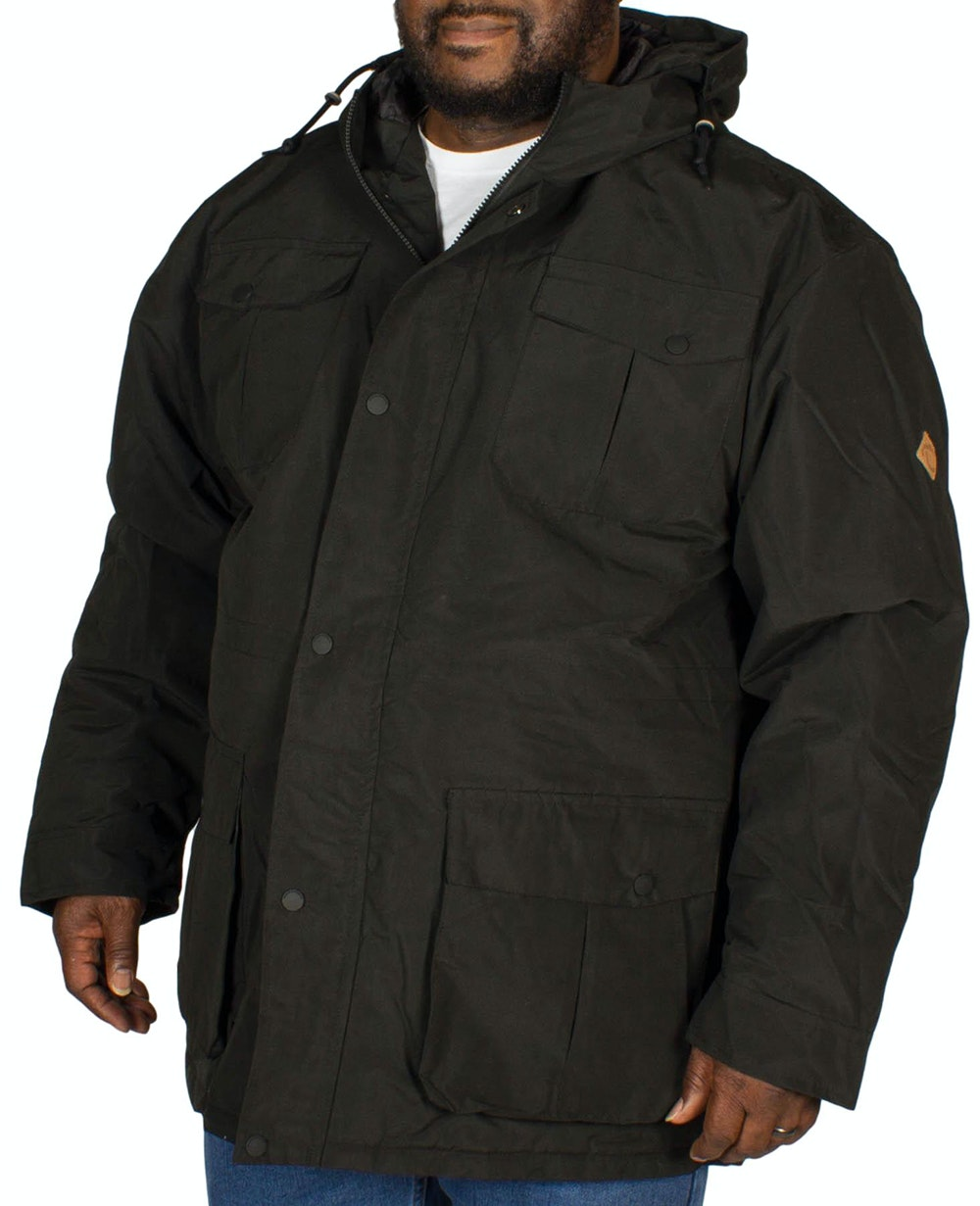 KAM Padded Hooded Jacket Black