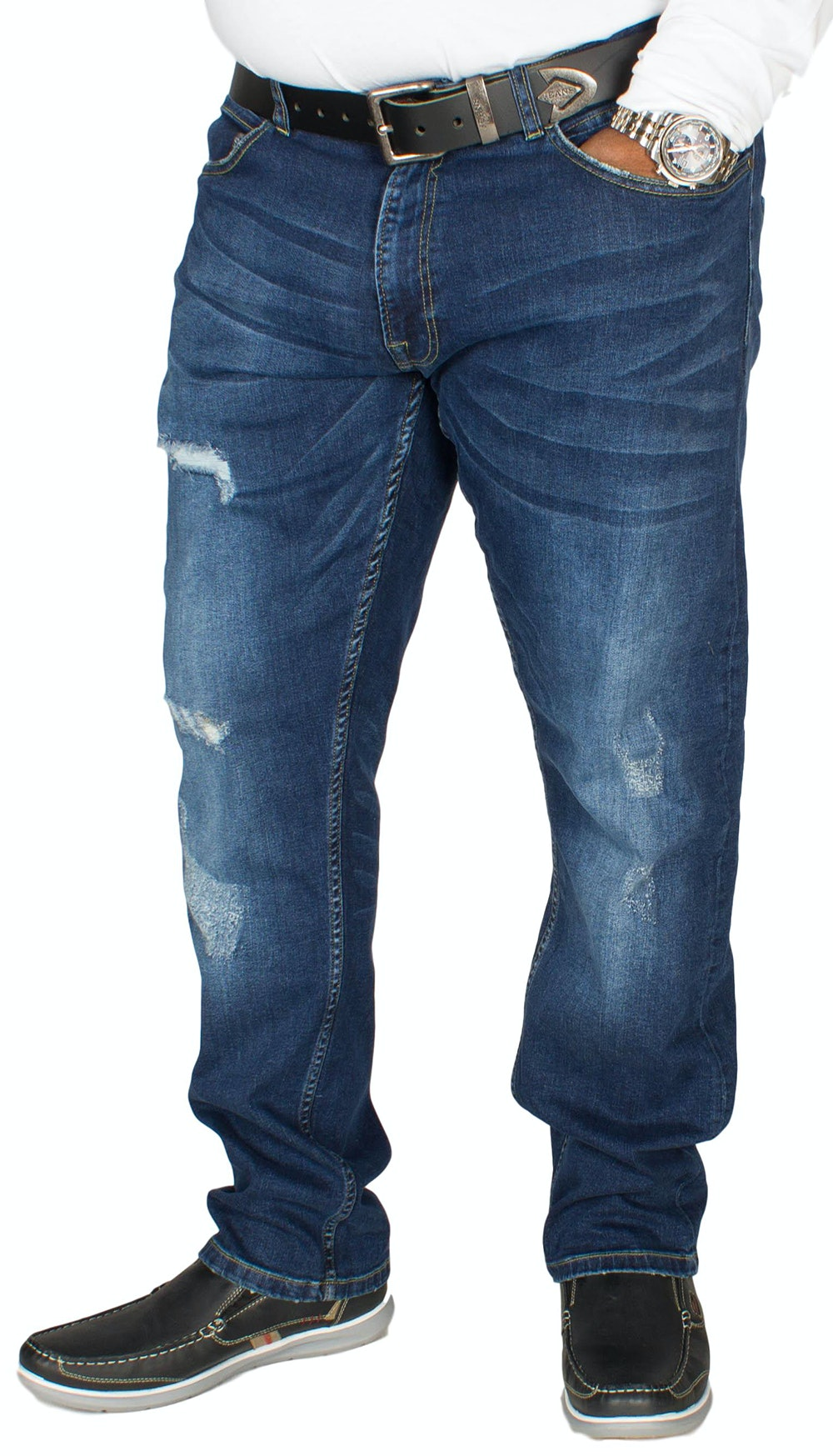 D555 Asher Stretch Fit Jeans Vintage Blue