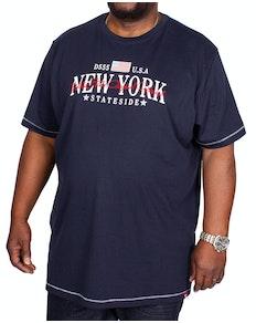 D555 Thornton New York Printed T-Shirt Navy