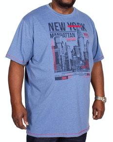 D555 Delta New York Printed T-Shirt Denim