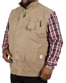 D555 Enzo Multi Pocket Hunting Waistcoat - Walnut