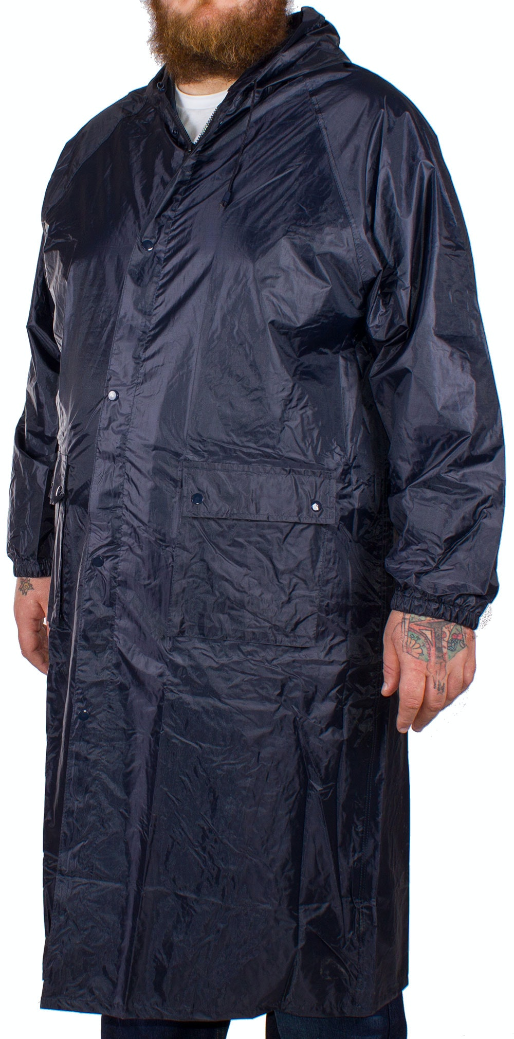Baum Waterproof Long Coat Navy