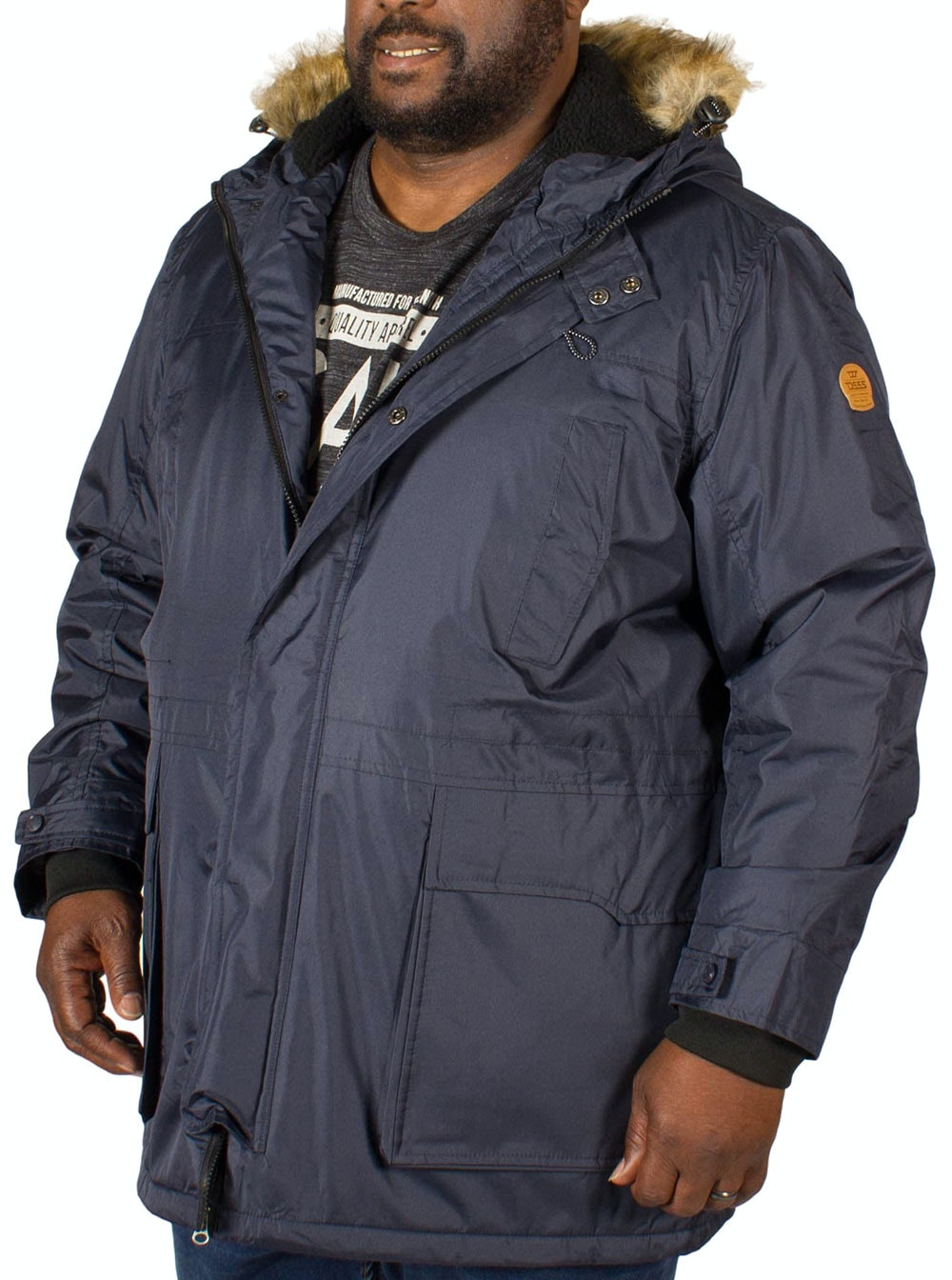 D555 Lovett Parka Jacket Navy