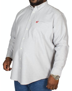 Bigdude Long Sleeve Oxford Shirt Grey