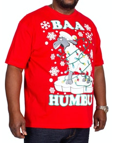Baa Christmas Print T-Shirt Red