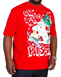 Piste Christmas Print T-Shirt Red