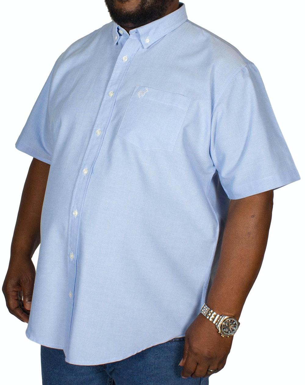 Bigdude Short Sleeve Oxford Shirt Blue