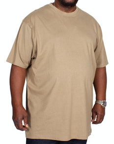 KAM Plain Crew Neck T-Shirt Olive